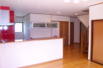 K様邸キッチン1