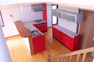 K様邸キッチン2